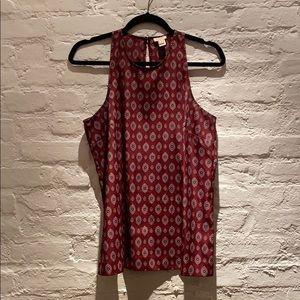 JCrew sleeveless patterned blouse sz 8